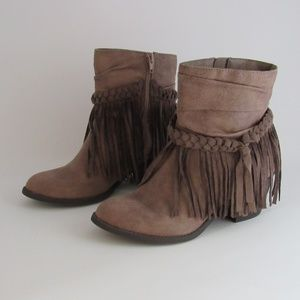 Jellypop Fringed Booties